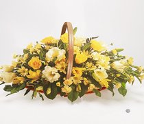 Yellow and Cream Mixed Basket Spray Code: JGFF2350FB
