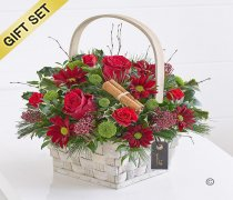 Festive Cheer Basket with a Box of Luxury Chocolates Code: X89701MB