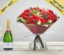 Christmas Cracker Hand-tied with a delicious bubbly Champagne Code: JGFX80051RSCH