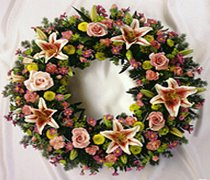 Stargazer Lily Wreath