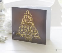 Christmas Tree Handwritten Greetings Card Code: X82631ZF