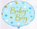 Baby Boy Azure Vase with Luxury Chocolates and a Fun Baby Boy Helium Balloon, Code: JGFA928871BVCB