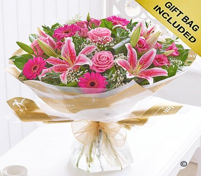 Large Pink Radiance Hand-tied Code: C00352PS