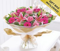 Extra Large Pink Radiance Hand-tied Code: C00353PS