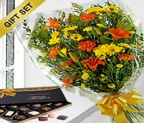 Gift Wrap Bouquet With Luxury Belgian Chocolates. Code: JGF20548YOGWC