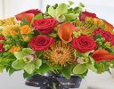 Luxury Orchid, Rose and Calla Lily Vibrant Hand-tied Code: L20971MS