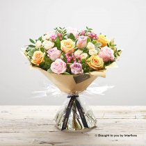 Elegant Rose and Amaryllis Hand-tied with Vase Code: S32611MV
