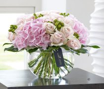 Luxury Rose and Hydrangea Hatbox : Code: LU10131MI