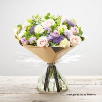 Luxury Pastel Rose and Freesia Hand-tied : Code:  L20921MS
