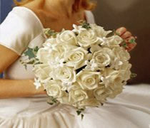 Graceful Rose & Stephanotis Scented Bridal Bouquet Code: W1400