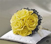 Lemon Rose Bridal Posy Code: W1000