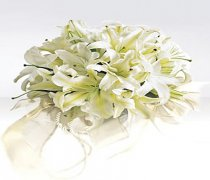 Exotic White Lily Bridal Bouquet Code: W1800.