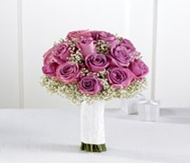 Lavender Rose & Gypsophila Bridal Bouquet Code: W1100