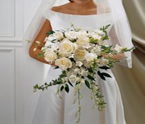 Ivory Rose & Orchid Scented Bridal Bouquet Code: W1700