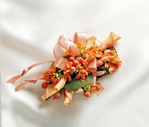 Sweet Peach Rose Corsage Code: W23011PE