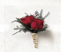Scarlet Rose Buttonhole Code: W16011RE