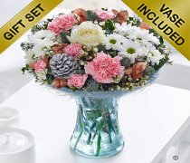 Winter Flower Perfect Gift with a box of Belgian Chocolates Code:  JGFW89321MSC  | Local Delivery Or Collect From Shop Only
