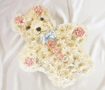 Teddy Bear Funeral Flower Tribute Code: JGF1121PBTB