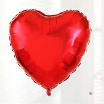 Red Heart Balloon Plain Foil Balloon Code: JGFV478RHB (Local Delivery Only)