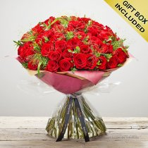 Unforgettable 50 Red Rose Hand-tied  Code: V40141RS