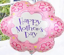 Mother's Day Fun Pink Flower shaped Helium Happy Mother's Day Balloon  Code: JGFMD11124FB Local Delivery Only