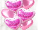 Happy Mothers Day Helium Filled Heart  Balloon Bouquet Code JGFMD89871HB | Local Delivery Or Collect From Shop Only