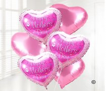 Happy Mothers Day Helium Filled Flower Balloon Bouquet Code JGFMD89871FB | Local Delivery Only
