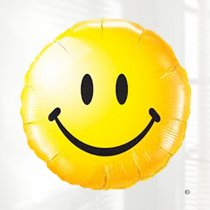 Yellow Smiley face balloon Code JGF4783211B (Local Delivery Only)