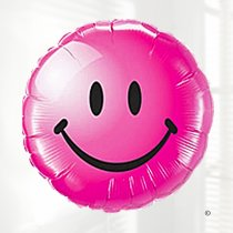 Pink Smiley face balloon Code JGF4783211B (Local Delivery Only)
