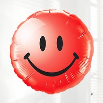 Red Smiley face balloon Code: JGF5983211B (Local Delivery Only)