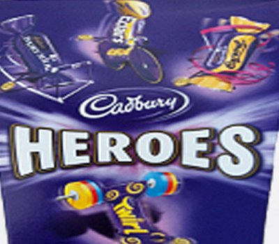 heroes chocolates cadburys 350g box