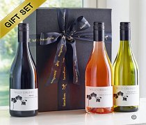 Wine Trio Gift Set with Hand-made Chocolates. Code: JGF756RRWWC