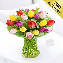 Mixed Tulip Vase Code: JGFS231GTSP  | Local Delivery Or Collect From Shop Only