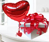 Red Heart Balloon in a Box  (Helium-Filled) Code:JGF1248RHB