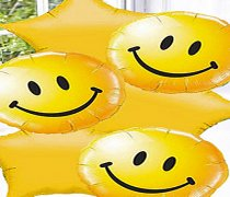 Yellow Smiley Face & Star Balloon Bouquet Code:JGF13YSFYB