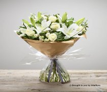 Wonderfully White Sympathy Hand-tied Code: C00311WS  | National and Local Delivery