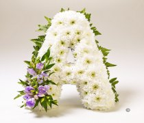 White Based Funeral Letter Tribute A to Z   Code: JGF1429LWBAZ