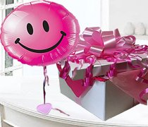 Pink Smiley Face balloon in a box Code:JGF6767PSBB