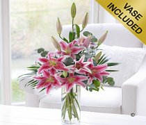 Pink Scented Lily Vase Code: C04891PS