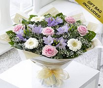 Rose, Freesia and Germini Hand-tied Code: C00401MS