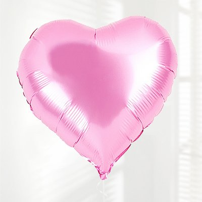 Pink Heart Fun Helium Balloon Code: JGFPHB112PHB  ( Local Delivery Only )