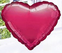 Cerise Pink Heart Fun Helium Balloon Code: JGFCHB113CHB ( Local Delivery Only )