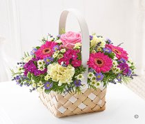 Summer Pastels Basket Arrangement  Code: H60401MS