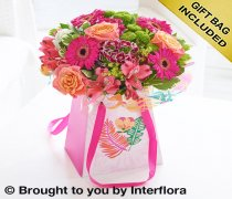 Large Summer Flower Gift Bag Code: H61972MS