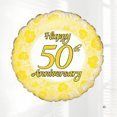 golden wedding happy 50th anniversary hart balloon code jgf22250gwhab local delivery only
