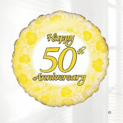 golden wedding happy 50th anniversary hart balloon code jgf22240rhb