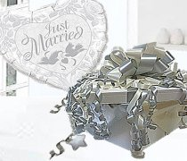 Just Married Balloon in Box Silver and Ivory Code:JGF68SIJMBB