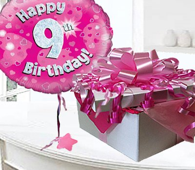 Happy 9th Birthday Balloon In A Box Code Jgf8h8bbb 9 Happy Birthday Wishes For 9 Years