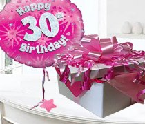 Happy 30th Birthday Balloon in a Box Code:JGF30H30BB