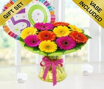 50th Birthday Germini Perfect Gift with a Fun Happy 50th Birthday Day Balloon Code: JGF12050PGB ( Local Delivery Only )